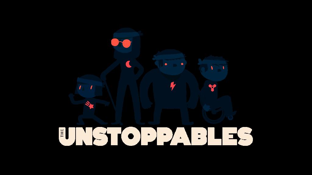 Diapo 2 : photo représentant les 4 personnages du jeu the unstoppables