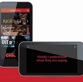 Diapo 4 : Image de l'application Galapro sur un smartphone avec le choix des pièces de théâtre à regarder
