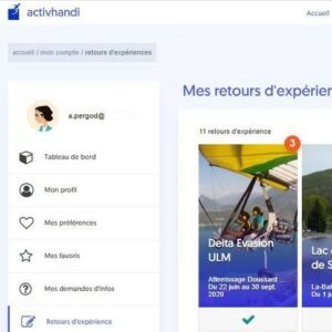 Interface de l'application activhandi