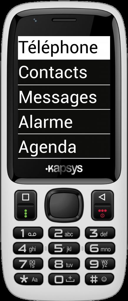 Diapo 3 : KAPSYS MiniVision avec fond d'écran