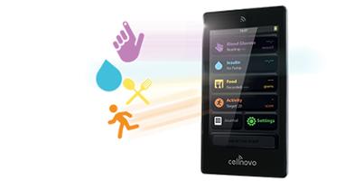 Diapo 4 : photo représentant les fonctionnalités de la tablette cellnovo
