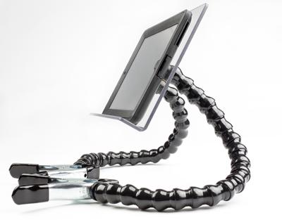 Diapo 6 : photo qui représente un bras support avec une tablette au bout du bras