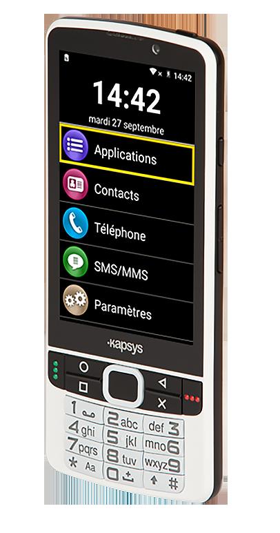 Diapo 2 : téléphone SmartVision2 représenté sur le côté