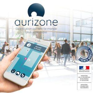 L'application Aurizone sur un smartphone