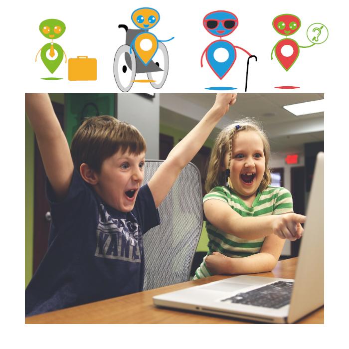 Diapo 5 : image représentant des enfants en train d'utiliser l'application
