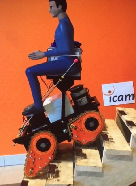 Diapo 2 : image représentant le prototype du fauteuil phoenix