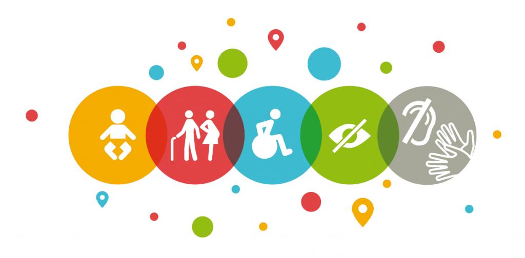 Diapo 3 : image représentant les différentes typologies de handicap auxquels l'application est destinée