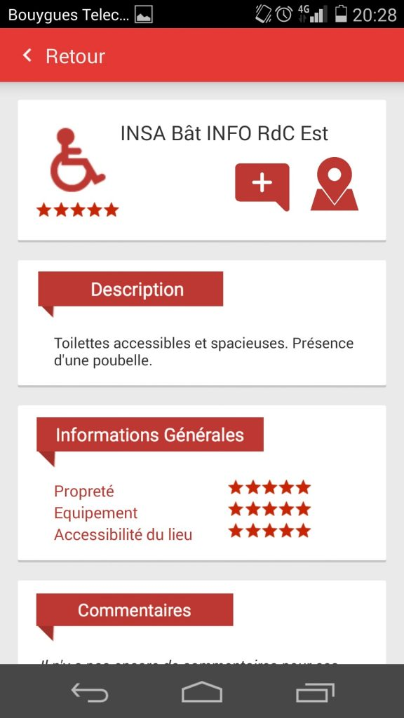 Diapo 2 : interface de l'application handipressante