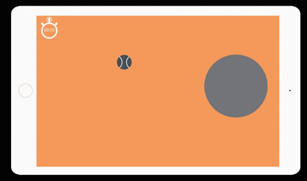 Diapo 3 : application la bille qui roule, exercice passage de cercles