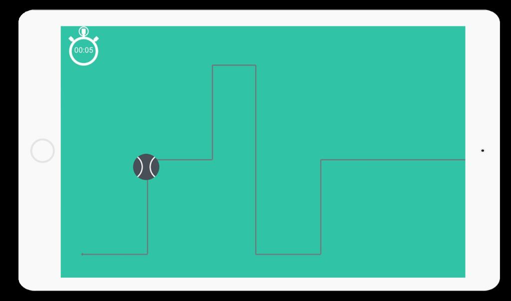 Diapo 2 : application la bille qui roule, exercice suivi de ligne