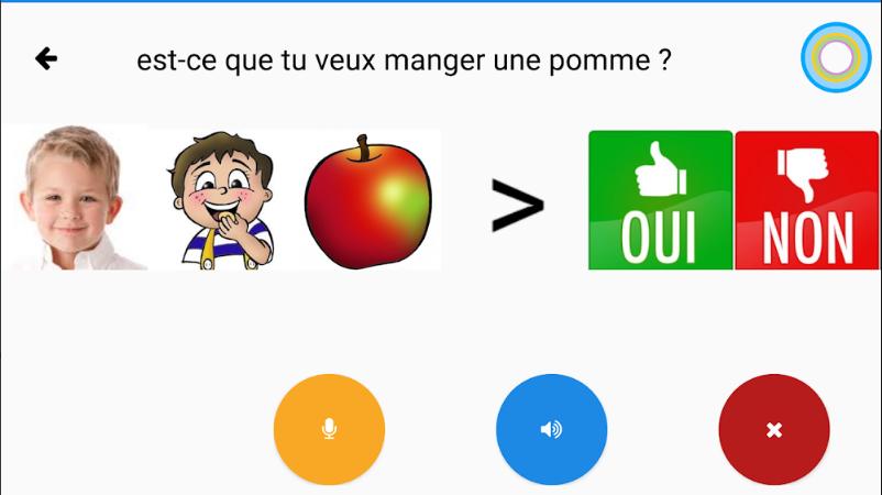 Diapo 2 : exemple d'action traduite par l'application helpicto