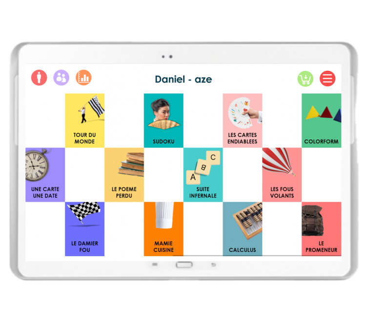 Diapo 2 : interface du jeu joe