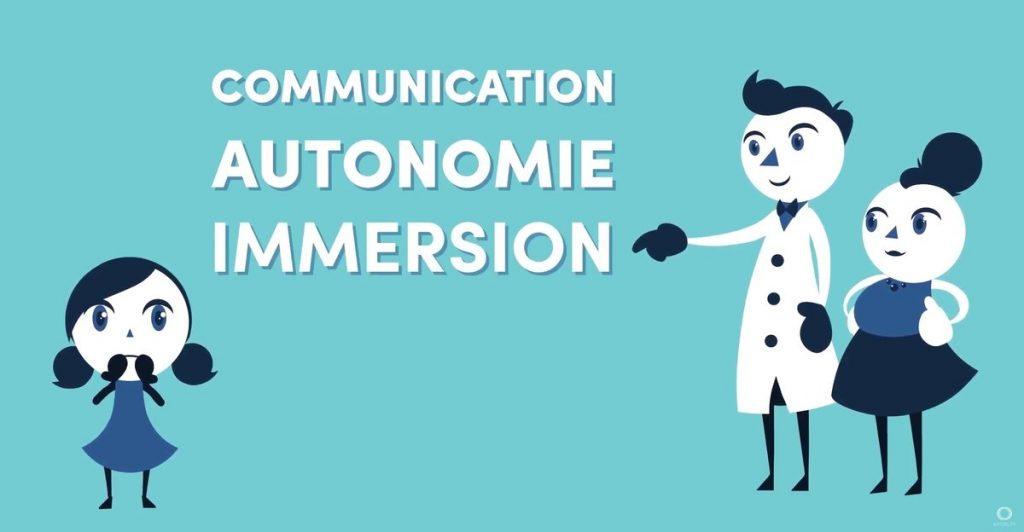 Diapo 2 : 3 caractéristiques principales d'holautisme communication, autonomie et immersion