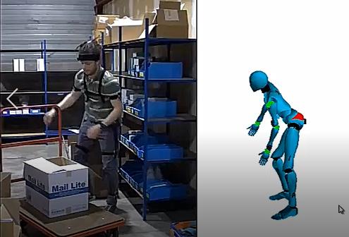Diapo 2 : photo représentant le disposition de motion capture en action sur un salarié