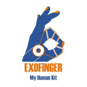 Diapo 5 : Image d'un des logos de MyHumanKit représentant un exo doigt