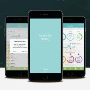 Image de l'application Hillo sur des smartphones