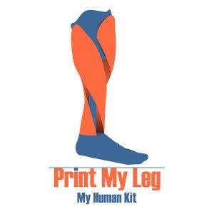 Diapo 7 : Image d'un des logos de MyHumanKit représentant une prothèse de jambe