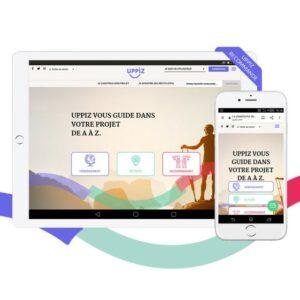 Interface de Uppiz sur une tablette et un smartphone