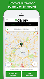 Diapo 3 : photo qui représente l'application adanev cab