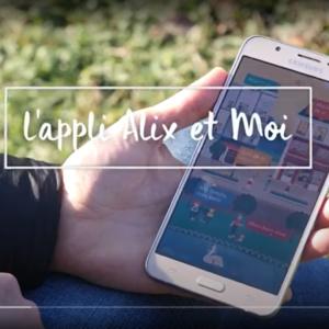 Application Alix et Moi sur un smartphone