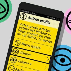 Image des paramètres de Tactile Facile su un téléphone (Micro geste, Vision +, Vision ++)