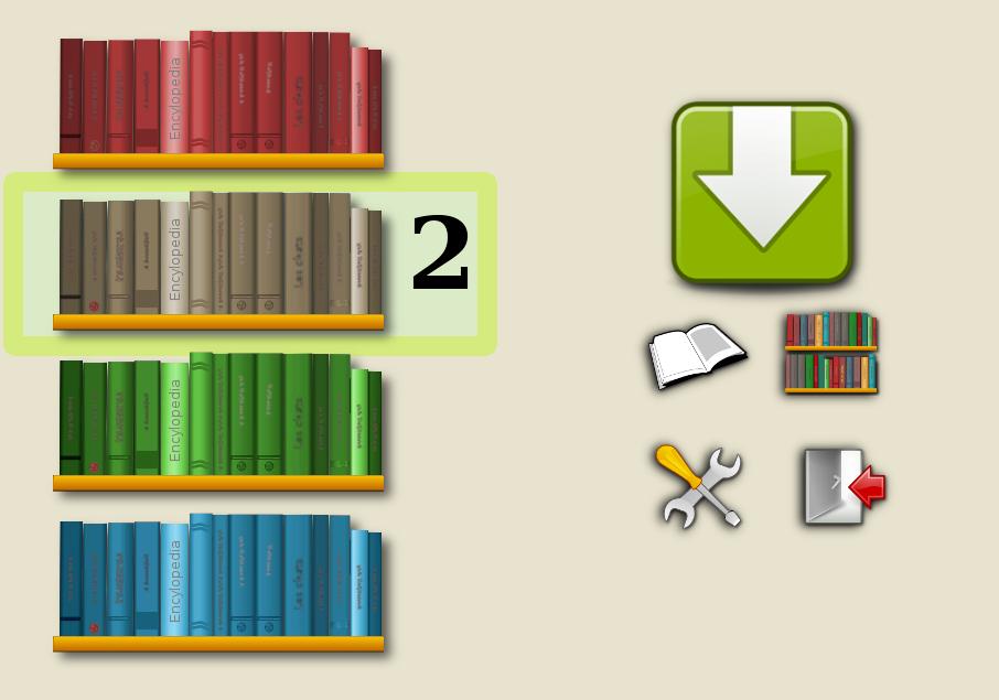 Diapo 3 : pictogrammes représentant une bibliothèque