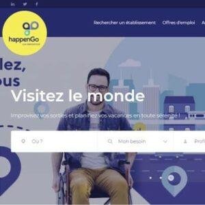 Barre de recherche du site HappenGo
