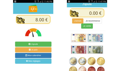 Diapo 3 : Image de l'application Ouispeak qui calcule l'argent