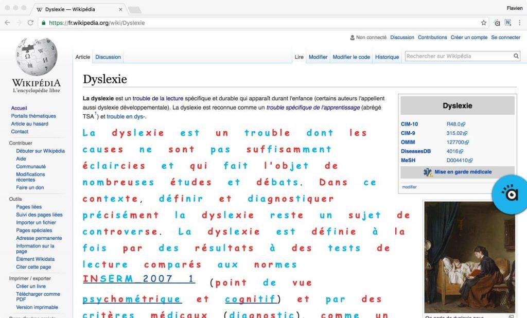 Diapo 3 : page web wikipédia après adaptation d'aidodys