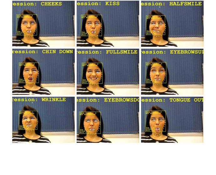 Diapo 4 : Différentes expressions faciales d'une personne