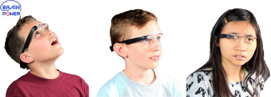 Diapo 2 : trois enfants portant le Brain power