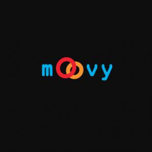 logo moovy avec deux o qui se superposent