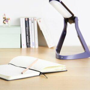 Photo de la lampe Lexilight éclairant un livre