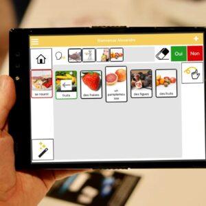 photo qui représente l'application gong sur une tablette