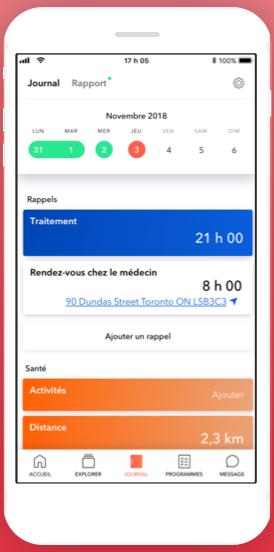 Diapo 4 : l'application aby montrant le tableau de bord de l'utilisateur