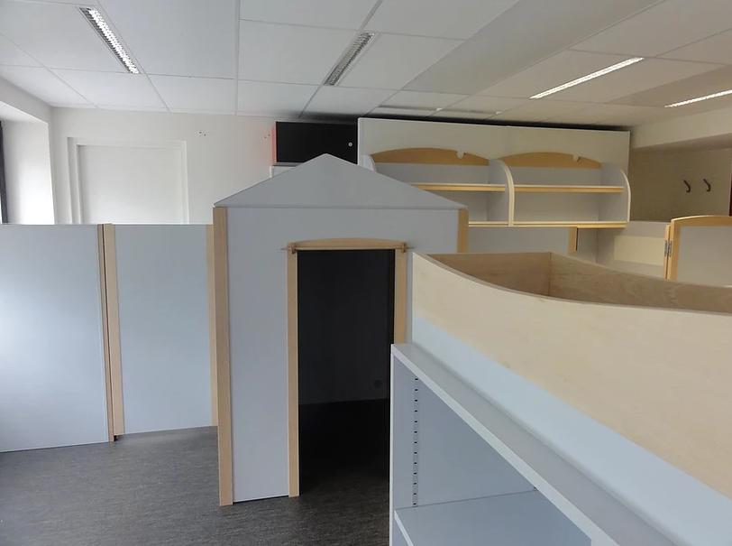 Diapo 4 : un espace adapté par Andibo en forme de maisonnette