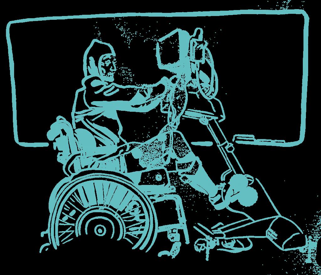 Diapo 2 : dessin qui représente une personne à la salle de sport