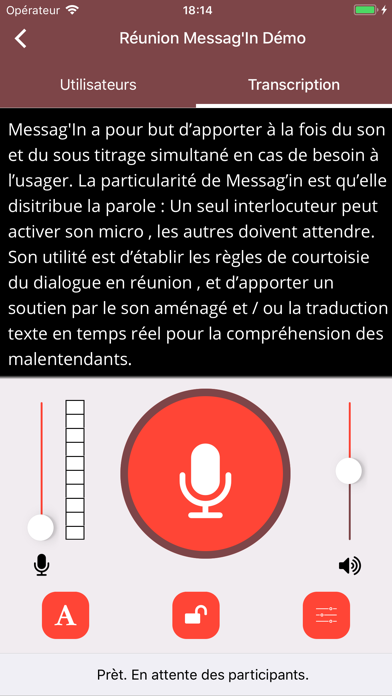 Diapo 3 : Image de l'application Messag'in