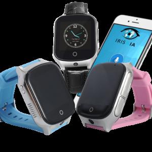 cette image représente les montres connectées à l'application Irissia.