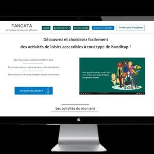 Photo représentant la plateforme Tangata dans un écran d'ordinateur