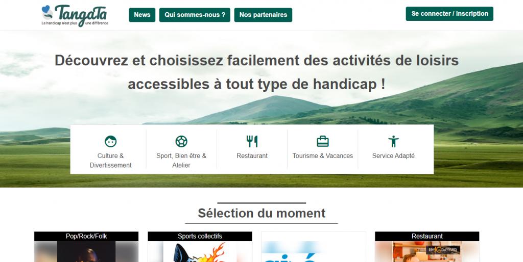 Diapo 2 : Page d'accueil du site internet de Tangata