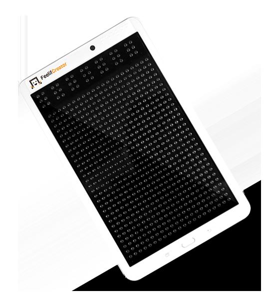 Diapo 5 : Image de la tablette en braille Feelif