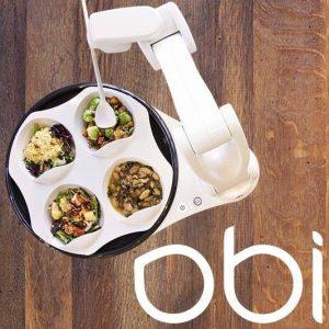 Image d'Obi, bras robotisé qui aide à la prise de repas