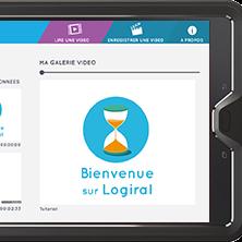 Image de l'application Logiral sur une tablette