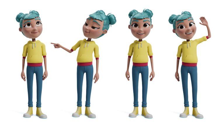 Diapo 3 : L'avatar qui accompagne les enfants sur l'application