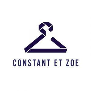 Logo de Constant et Zoé, un cintre dé