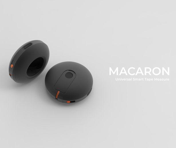 Diapo 3 : Deux macarons noirs sur un fond gris