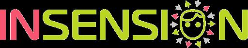 Diapo 2 : Logo de Insension en rouge et vert