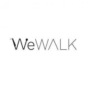 Le logo de We Walk avec le premier W en forme de canne