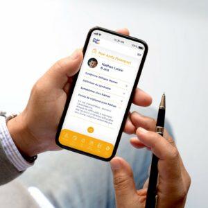 L'application Andy Cap'tain sur un smartphone